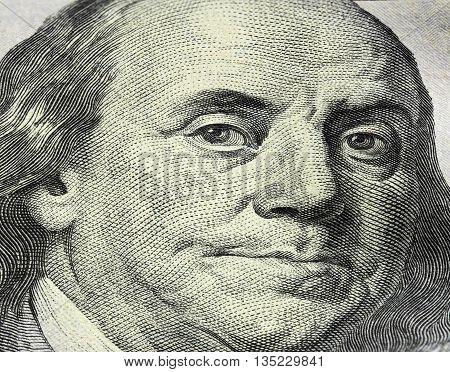 Money close up. American Money. dollars. portrait