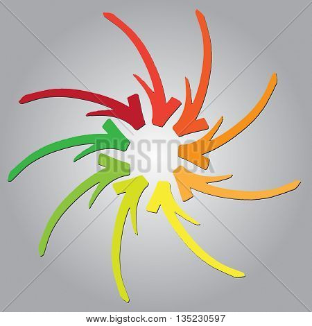 Arrows. Marker Drawing Series In Vector Format. Color Can Be Changed By One Click