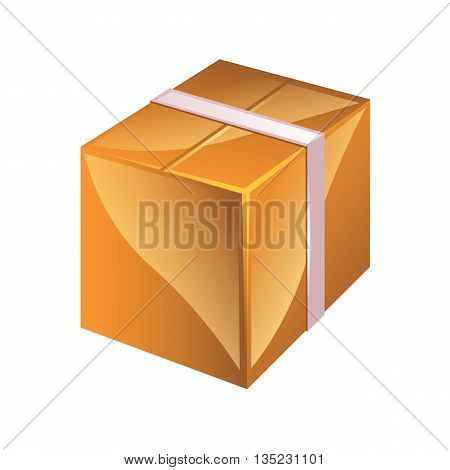 Vector Cardboard Box Isolated On White Background