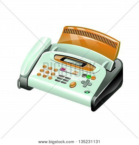 Fax Detailed 3D Icon Vector Graphic Illustration