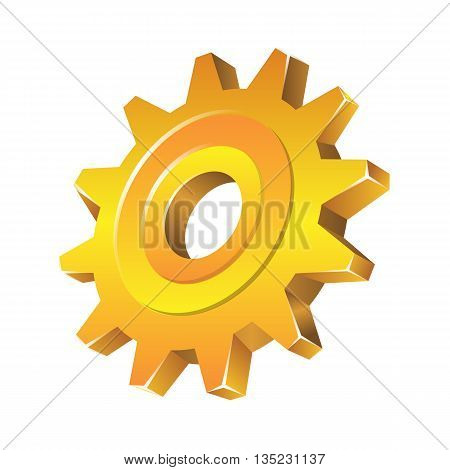 Vector Gear As Preferences Icon Isolated On White Background