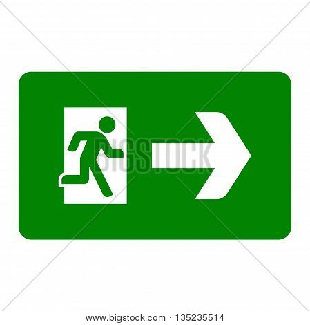 Emergency exit sign. Exit icon. Vector flat illustration
