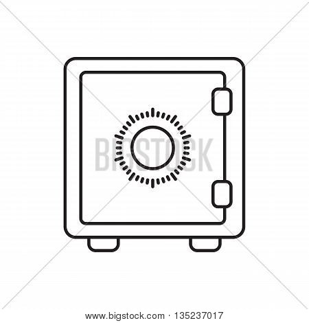 Flat Icon Of Safe