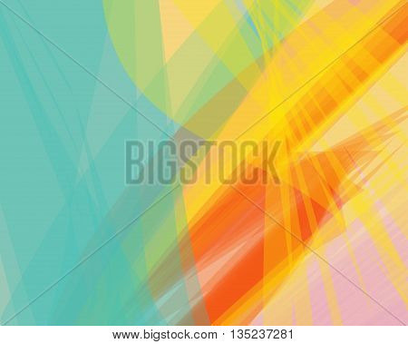 Colorful abstract vector background banner transparent wave lines shapes for brochure website flyer design and business card. Green bright wave form. Pink wavy shapes tropical background striped.