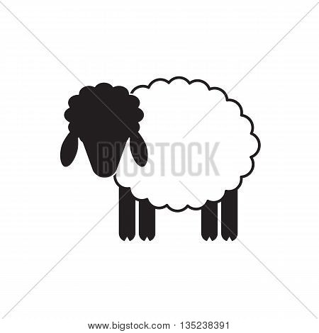 Sheep Or Ram Icon, Logo, Template, Pictogram. Modern Emblem For Market, Internet, Design, Decoration