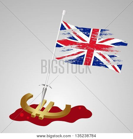 Color United Kingdom Flag Euro Killing Eps10