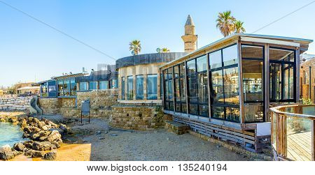 The famous archaeological area is full of the cozy cafes seaside restaurants and other places to relax and enjoy the resort Caesaria Israel.