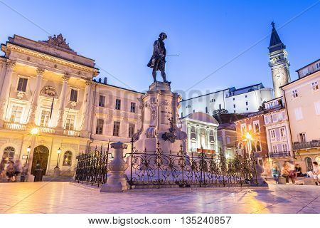 The Tartini Square is the largest and main square in the town of Piran, Slovenia. It was named after violinist and composer Giuseppe Tartini.
