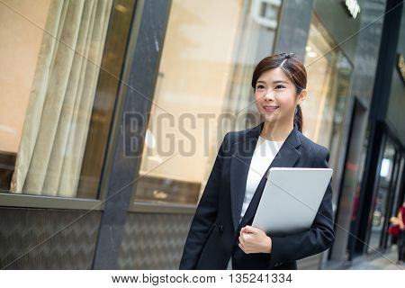 Business woman walking at outdoor