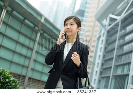 Asian Businesswoman chat on phone