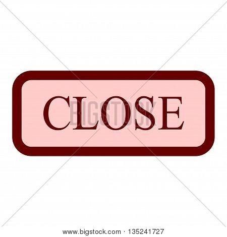 Close sign. Vector closed door sign. Red close sign icon on white background. Flat design. Vector closed store sign. Close red door icon. Label with text in flat style. Stock vector illustration