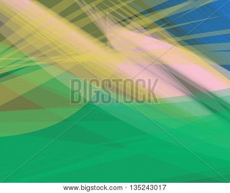 Abstract green vector background banner transparent wave lines shapes for brochure website flyer design and business card. Green smoke wave form. Green wavy shapes background striped.