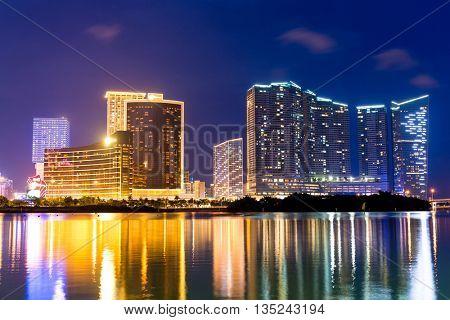 Macau city at night