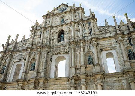 Ruins St.Paul Church in macau city