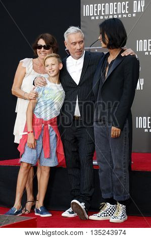 Roland Emmerich and family at the Roland Emmerich Hand And Footprint Ceremony held at the TCL Chinese Theatre in Hollywood, USA on June 20, 2016.