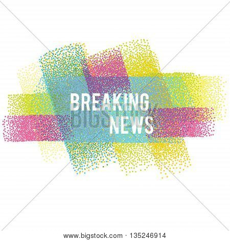 Breaking news vector banner. Vector illustration isolated design element background for web sites flyers and other business