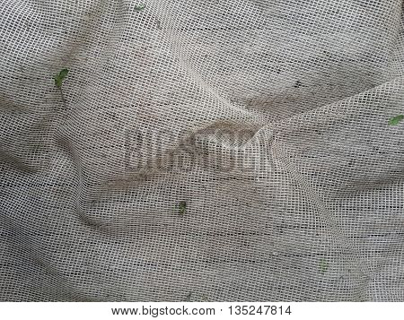 close up old crease rope net texture