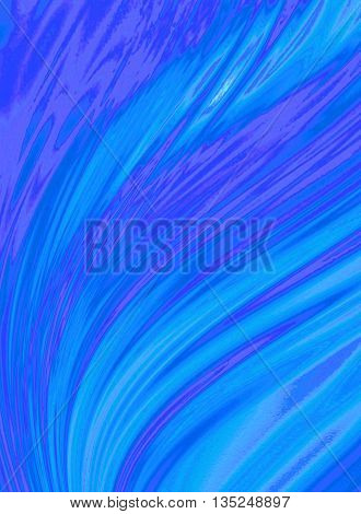 Blue purple background of incident waves covered divergent washouts