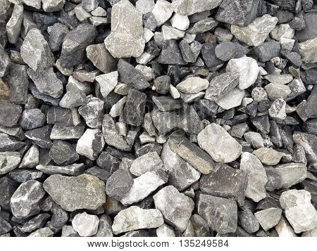 close up dry stone on the ground