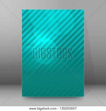 Brochure Cover Template Vertical Format Glowing Background30