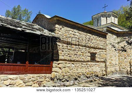 Old stone Church in Temski monastery St. George, Pirot Region, Republic of Serbia