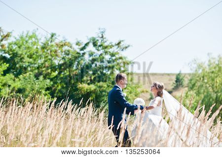 Wedding Couple At High And Dry Ears