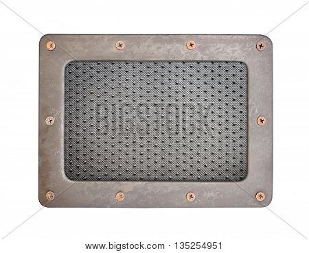 Black dot PVC plastic background plate with steel frame and screws