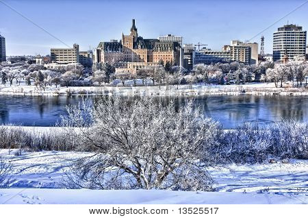City Of Saskatoon In Winter