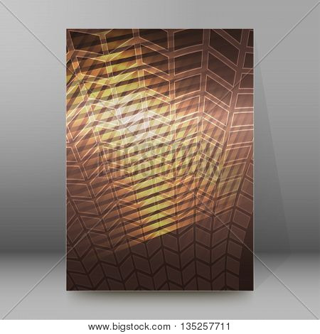Brochure Cover Template Vertical Format Glowing Background40