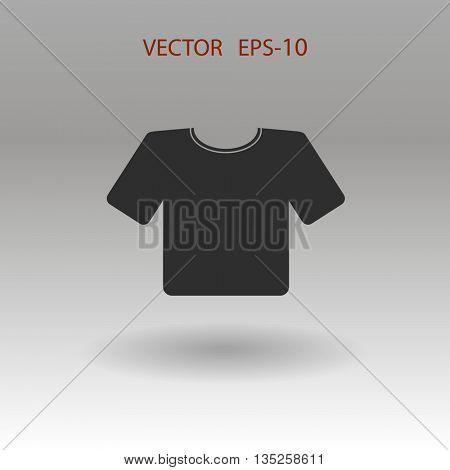 Flat T-Shirt icon. Vector