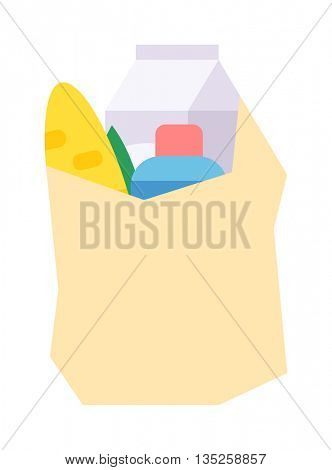 Shop product pack vector illustration.