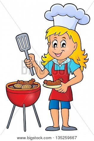 Barbeque theme image 4 - eps10 vector illustration.