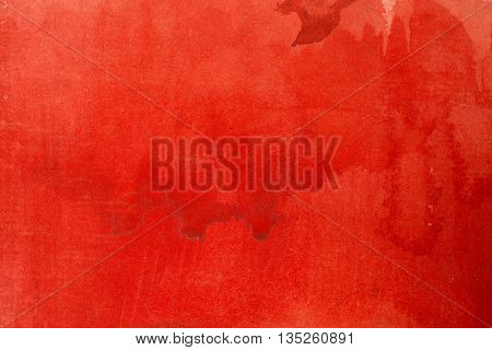 bright red watercolor background art paper drawn in colors