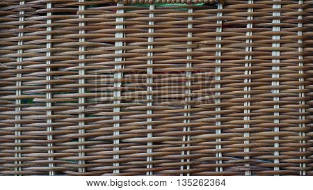 wicker basket of twigs in which are stored different things