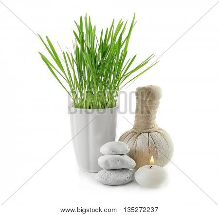 Spa composition isolated on white