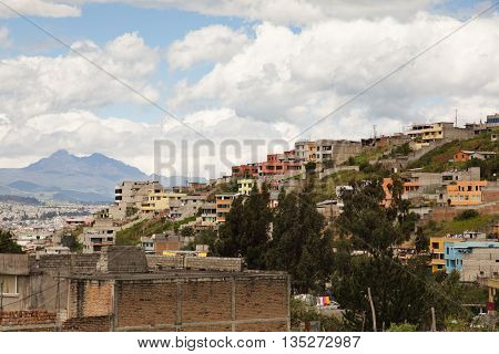 Quito, Ecuador, in the Andes Mountains in South America