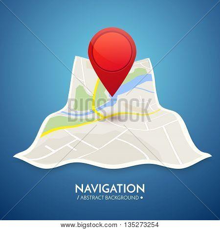 Gps navigation vector concept. Vector technology background