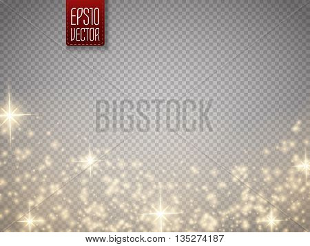 Glow special effect light flare star and burst. Isolated spark. Vector illustration