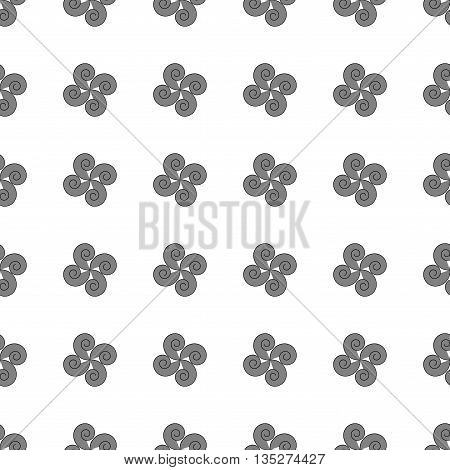 Flower geometric seamless pattern. Fashion graphic background design. Modern stylish abstract texture. Template for prints textiles wrapping wallpaper website etc Stock VECTOR illustration