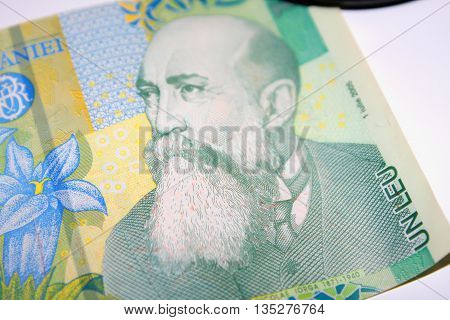 1 Romanian leu bank note. Lei is the national currency of Romania