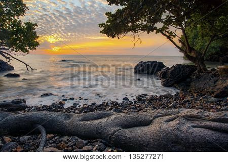 sun rising sky at rayong province eastern of thailand