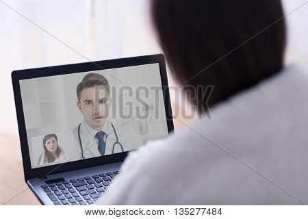 On-line Consultation With Her Gp