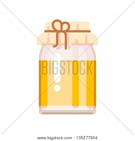 Honey bank icon. Apiary vector symbol. Vector illustration isolated on white background