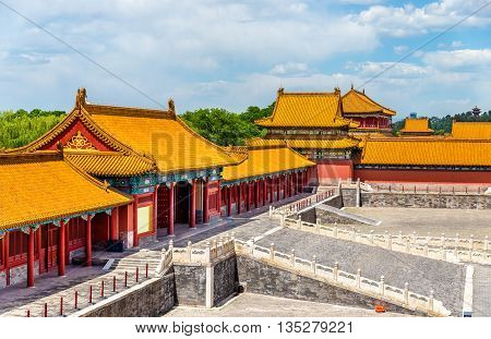 View of the Forbidden City or Palace Museum - Beijing, China