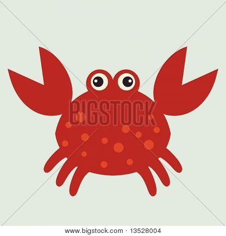 Vektor rote Krabbe