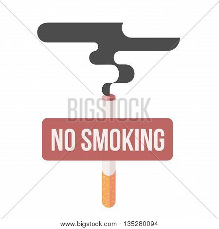Icons about smoking, illustration flat, the dangers of smoking, health problems due to smoking, nicotine dangerous smoke, danger to life and limb due to nicotine