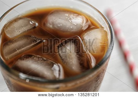 Cold coffee, closeup
