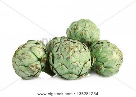 Artichokes, isolated on white