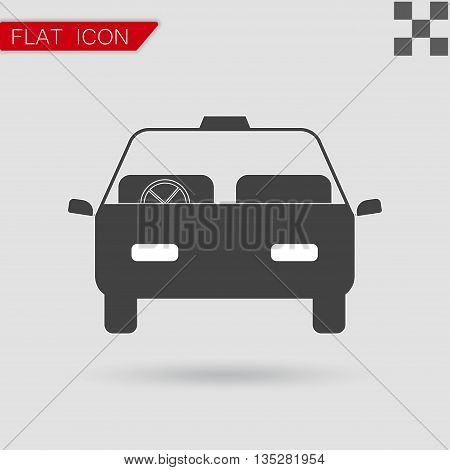 Car icon vector Flat Style with red mark
