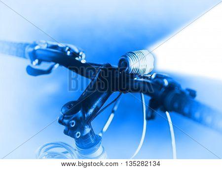 Horizontal bicycle blue flashlight bokeh background hd